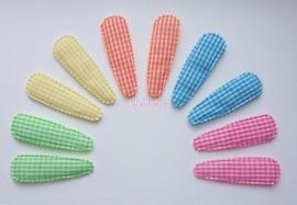 Set 10 kniphoesjes geruit vrolijke kleuren van 5.5 cm.