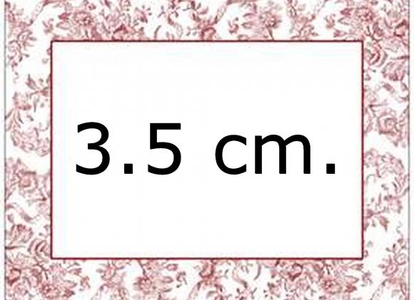 Kniphoesjes van 3.5 cm.