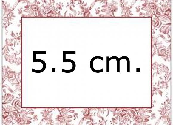 Kniphoesjes van 5.5 cm.